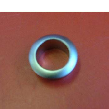 Rosette for mini push button, nickel