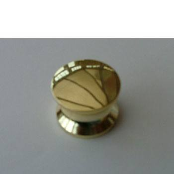Push button gold for standard rim lock