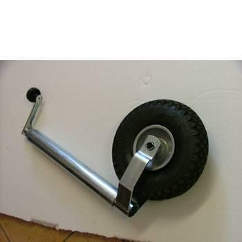 Caravan Jockey Wheel complete 48mm shaft, pneumatic tyre