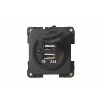 CBE 12v Twin USB Socket - Dark Grey