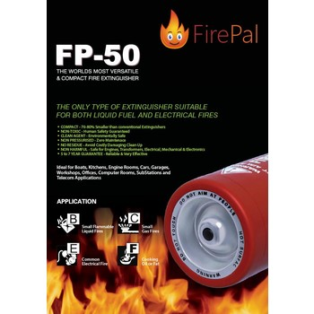 FirePal portable fire extinguisher