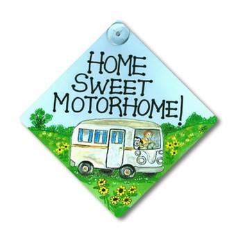Home Sweet Motorhome Smiley Window sign