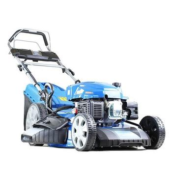 """Hyundai HYM530SPE Self-Propelled Petrol Lawn Mower, (rear wheel drive), 21""""/530mm Cut Width, Electric (push button) Start With Pull-Cord Back -Up"""