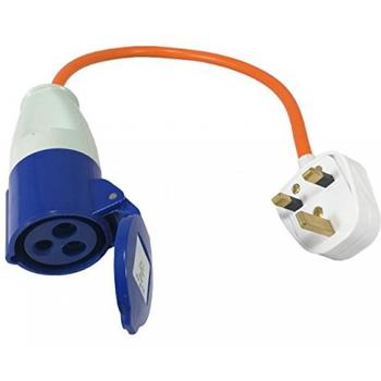 Mains Electric Hook-Up UK conversion lead