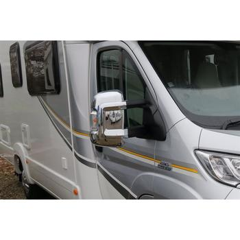Milenco Motorhome Mirror Covers (Wide Arm) - Chrome