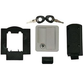 Rectangular Locker Door Lock - white