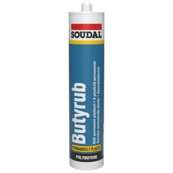 Soudal Butyrub Non-Setting (Permanently Plastic) caravan sealant (White)