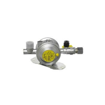 Truma gas regulator 30 mbar, 8mm outlet bulkhead mounted.