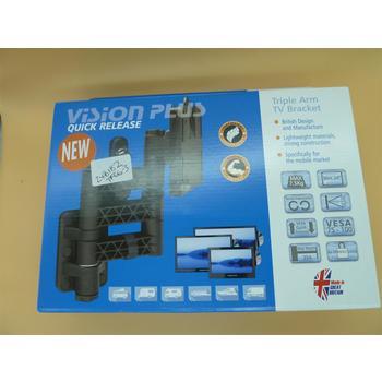 Vision Plus LCD TV Wall Bracket - Triple Arm, Black