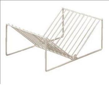 Wire plate rack - white