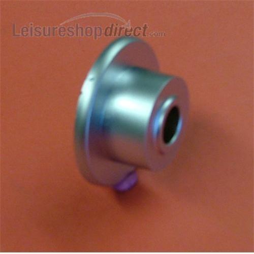 Door Handle T-Lock Rosette Silver image 2