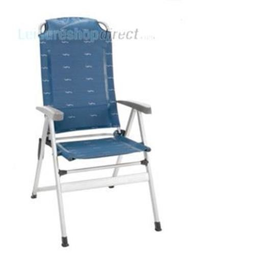 Kerry Slim Aluminium Recliner – Blue image 1