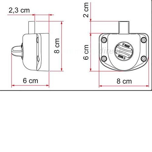 Fiamma Safe Door Guardian T Door Lock image 2