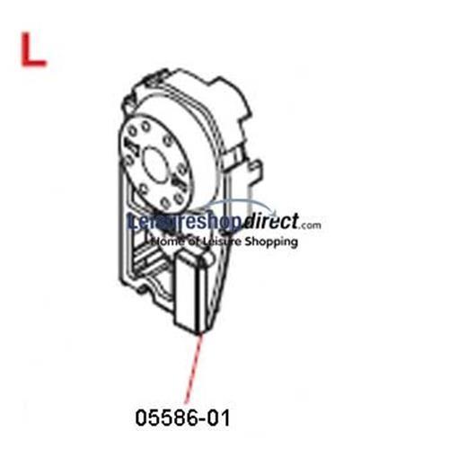 Fiamma F45Ti Left Hand End Cap 250/450 Titanium image 1