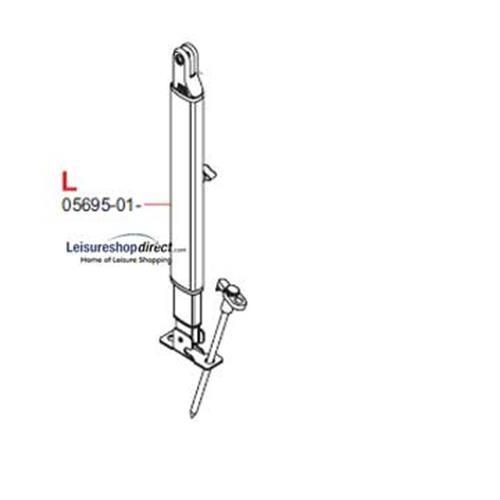 L.H Leg Fiamma F45TiL + Zip Awnings 4.0M - 6.0M Polar image 1