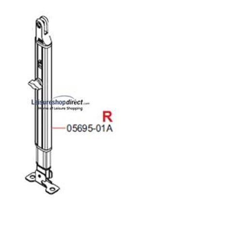 R.H Leg Fiamma F45TiL + Zip Awnings 4.0M - 6.0M Polar image 1