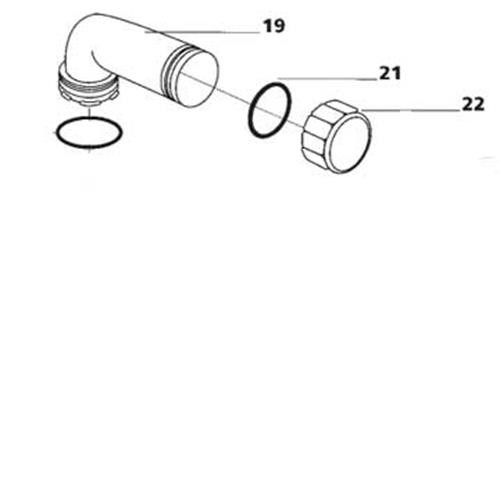 Thetford Porta-Potti Pour Out Spout Assembly - White image 1