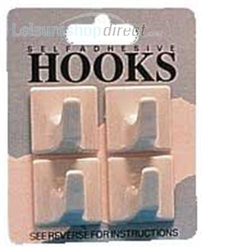 Beige small Square Hooks- pack 4 image 1