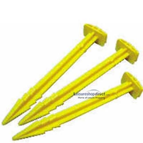 Awning Pegs - Large Yellow Plastic image 1