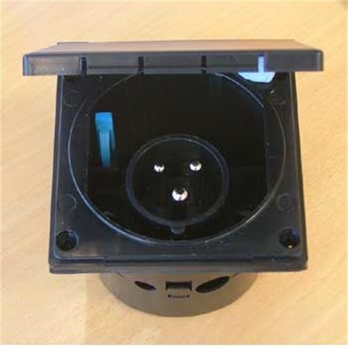 230 volt inlet - black image 1