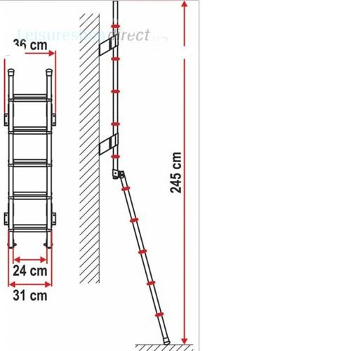 Fiamma Deluxe 5D Exterior Ladder image 3