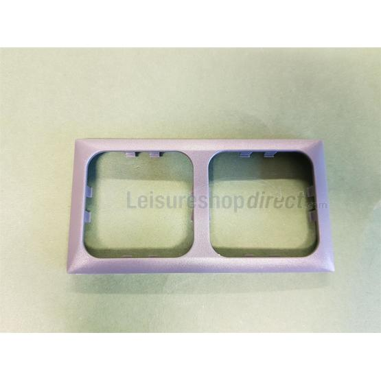 2 way Cover Plate for electrical socket -dark grey image 1