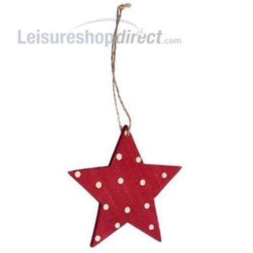 Christmas Retrospot Star - Wood image 1