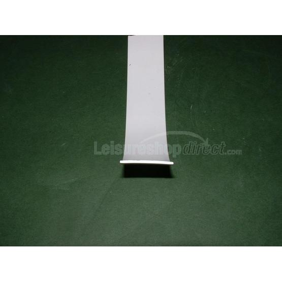 Plastic insert 25mm white for opening window rubber image 1