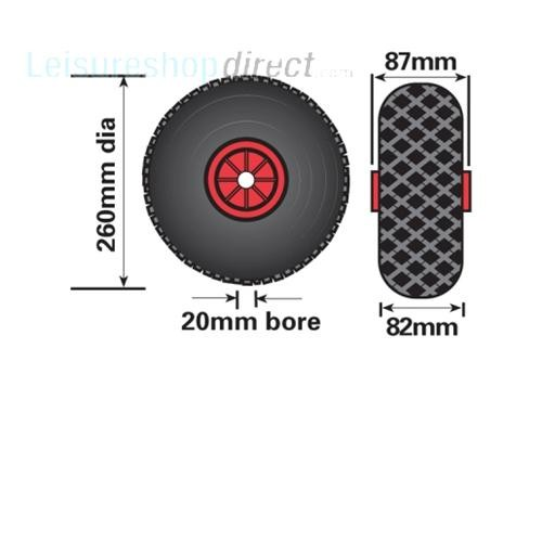Maypole 260mm Plastic Wheel with Pneumatic Tyre for Jockey Wheels image 2