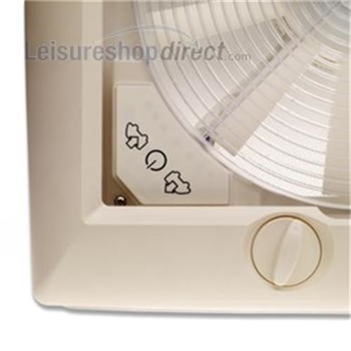 Omni-Vent 12v Fan + Blind with Clear Dome image 1