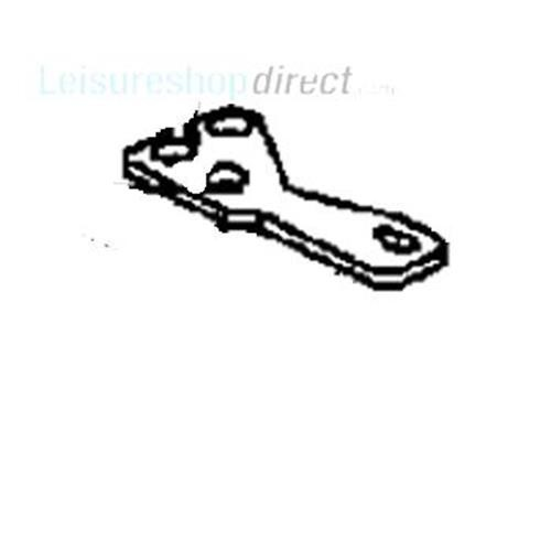 Dometic Upper Left Hinge Chrome Plated image 1