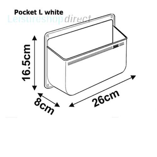 Fiamma Stowage Pocket L White image 2