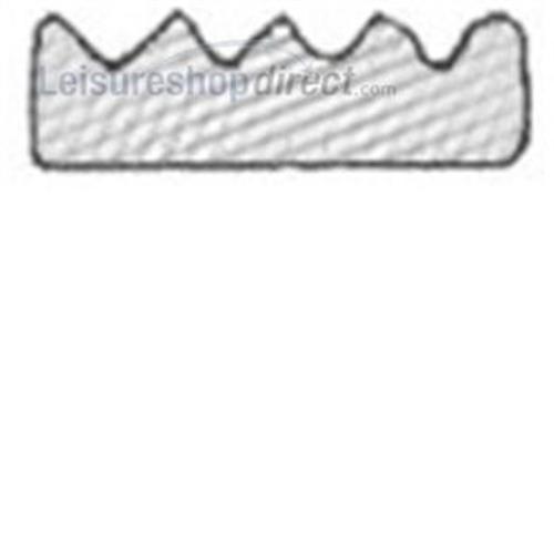 Self-adhesive backed expanded EPDM / sponge crown strip image 1