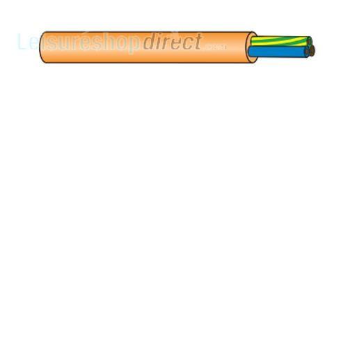 Flexible PVC Mains Cable Orange image 1