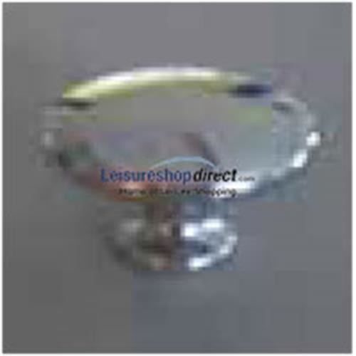 Knob Polished Chrome Effect 23mm - Zinc Alloy