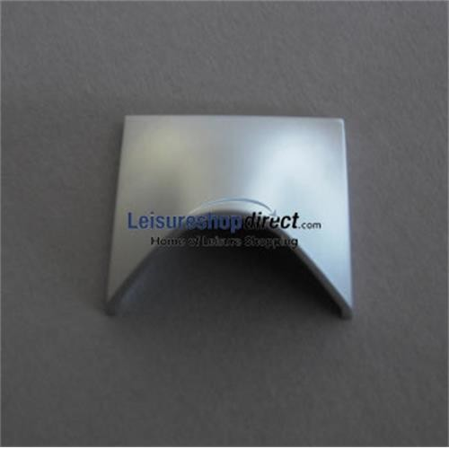 Finger Pull Handle Aluminium Effect - Zinc Alloy