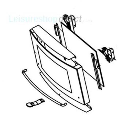 Dometic Oven Door Complete Ral 7030 image 1