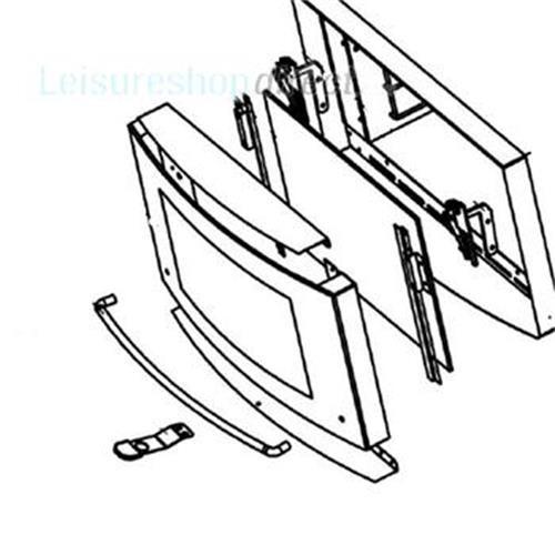 Dometic Oven Door Ral 9006 image 1