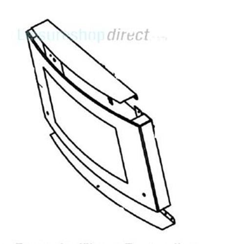 Dometic Door Glass with Hinge Guide - image 1