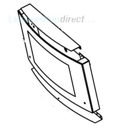 Dometic Door Glass with Hinge Guide image 1