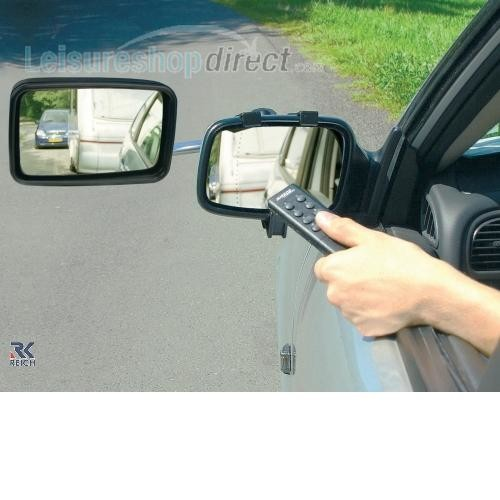 Reich Mirror Control Caravan Towing Mirrors Set with 2 Mirrors image 1