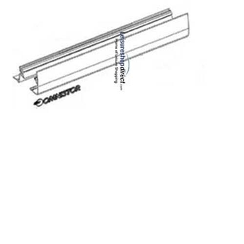 Omnistor 5002 Awning Outside Lead Rail White1.9m image 1