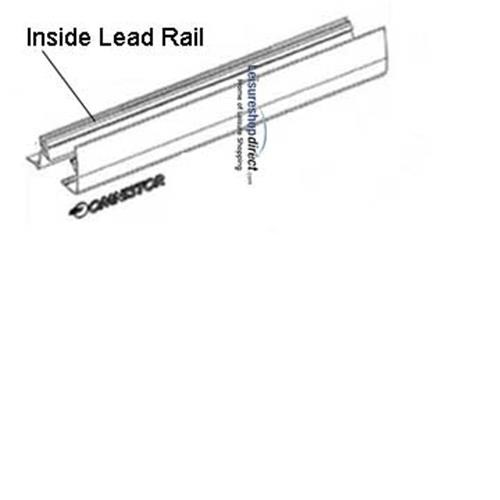 Omnistor 5002 Awning Inside Lead Rail White 3.0m image 1