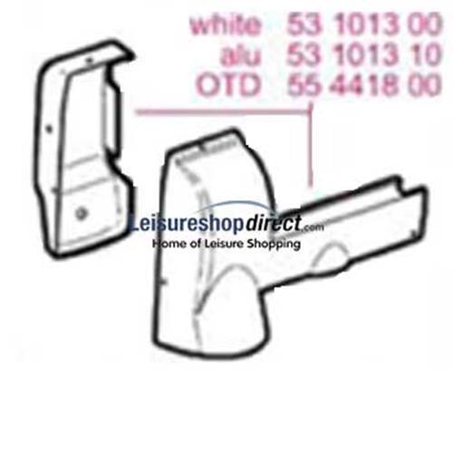Omnistor 5002 Awning End Cap Set Aluminium 12V Motor image 1