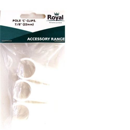 Royal Accessory Pole C Clip 7/8 (22mm)
