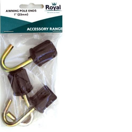 "Royal Accessory Awning Pole Ends 1""(25mm)"