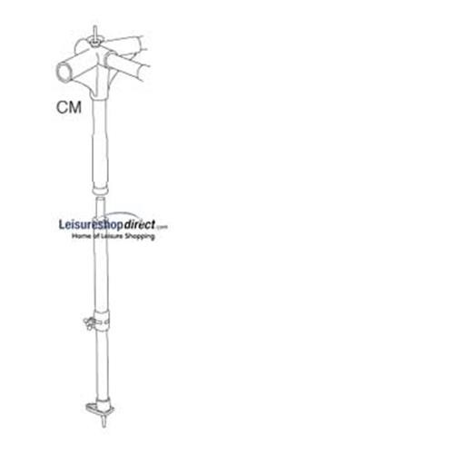 IXL - CM-central cross, with B-pole 10/18 for Ventura Standard Awnings image 1