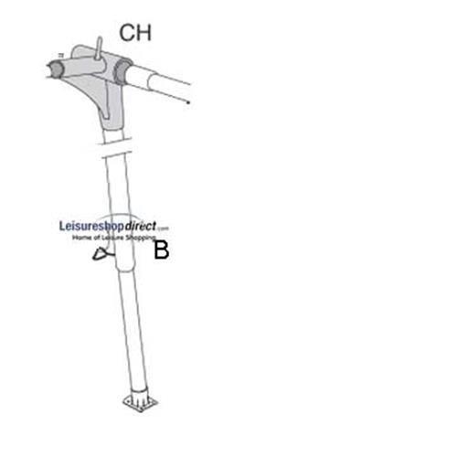 Zinox CH-corner right, with B-pole for Isabella Standard Awings image 1