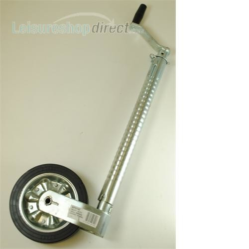 Super Heavy Duty Telescopic Ribbed Caravan Jockey Wheel 48mm image 1