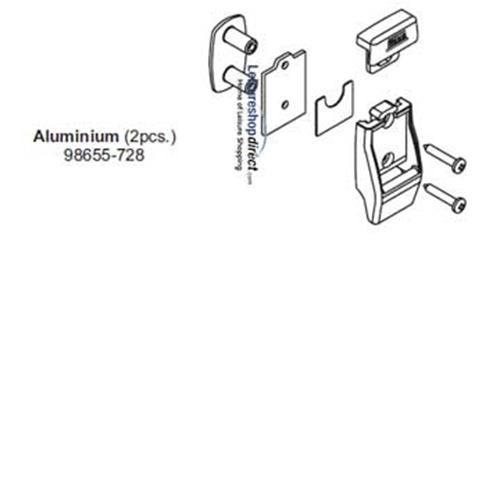 Leg Bracket Kit Aluminium for Fiamma Awnings image 1